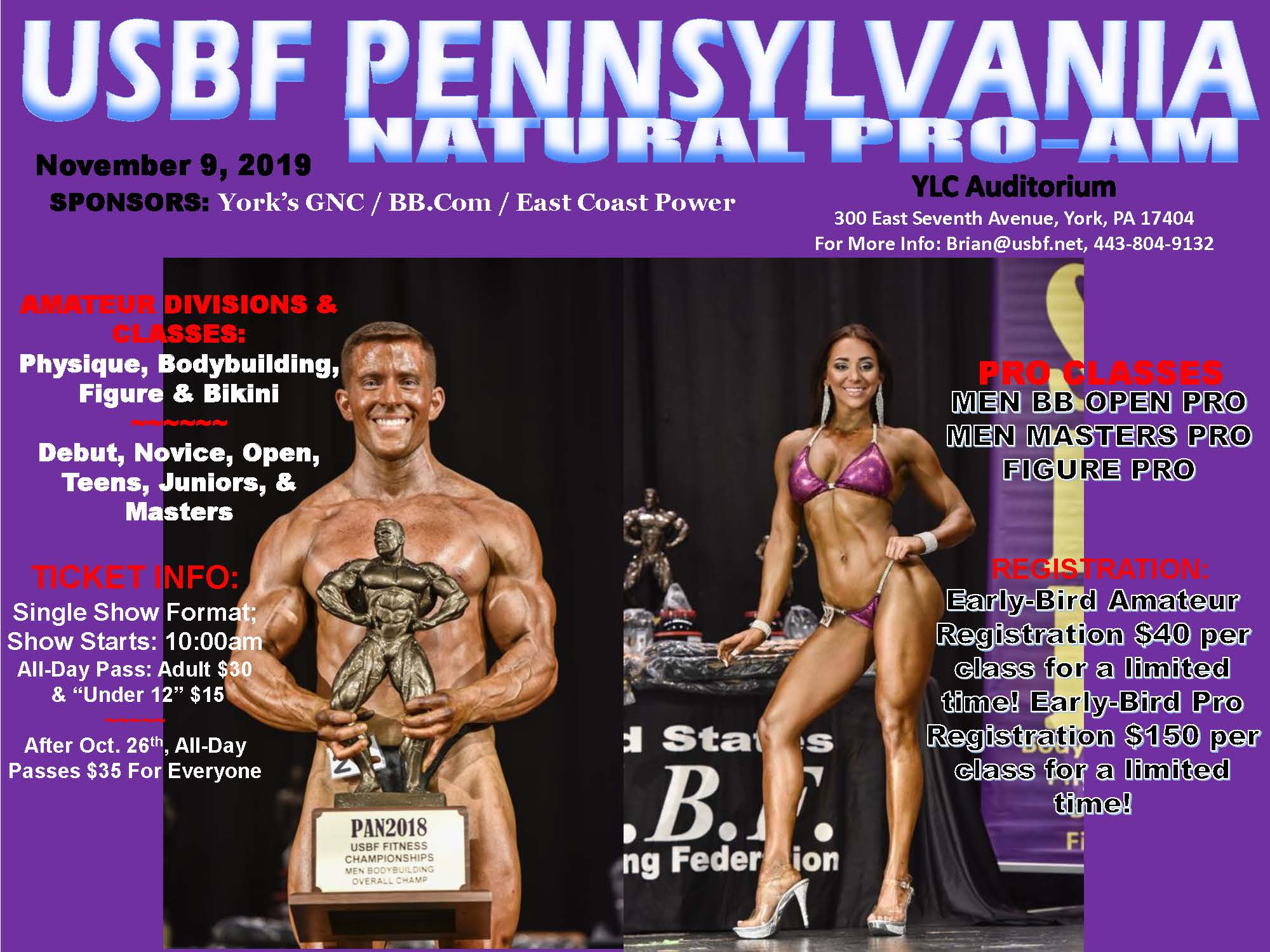 2019 USBF Pennsylvania Natural Pro Am